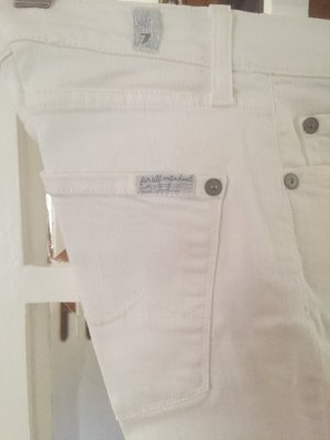 7 For All Mankind Jeans a zampa d'elefante bianco