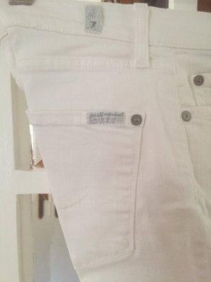 7 For All Mankind Jeans a zampa d'elefante bianco