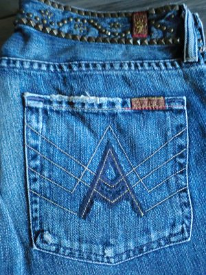 7 Seven for all Mankind Jeans Studded A-Pocket Gr. 28
