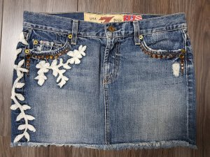 7 Seven for all Mankind Jeansrock * Great China Wall * Gr. 28