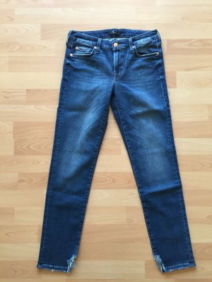 7 For All Mankind 7/8 Length Jeans blue cotton