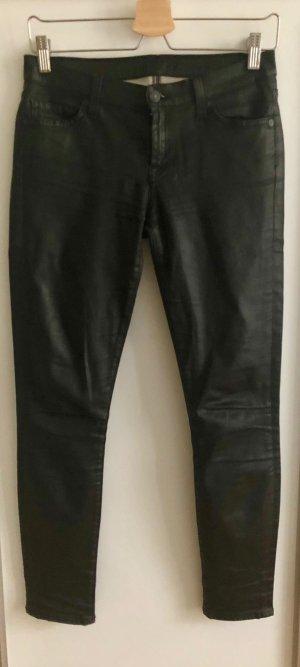 7 For All Mankind Jeans cigarette noir coton