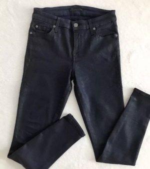 7 SEVEN FOR ALL MANKIND Skinny Jeans Dunkelblau / ink coated / W 25, 34 | NEU