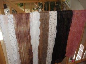 7 Stück NEU Italienische Mode Schals Halstücher