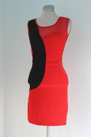 Mini vestido negro-rojo