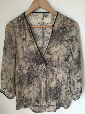 70's Seiden Bluse  Tunika, transparent