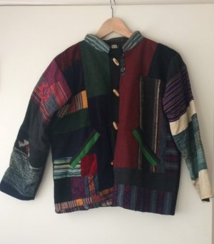 70's Vintage Hippie Festival Patchwork Jacket From Nepal