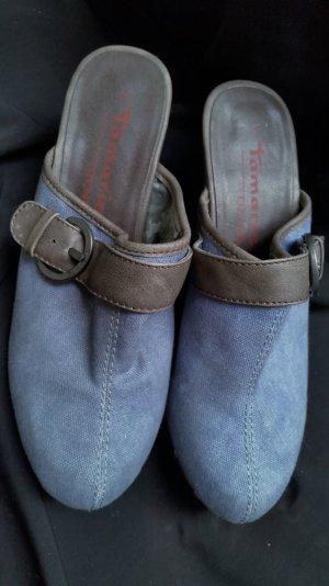 70%Sale!Clogs Jeans  Jahre extravagantes Design Holzsohle mit Nieten Gr 39