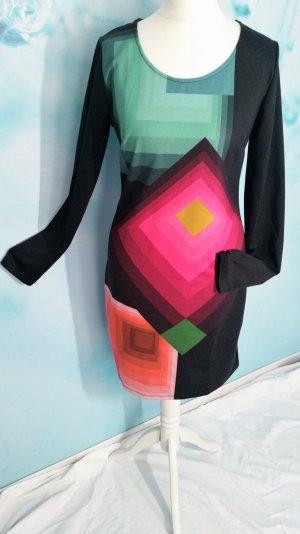70% Sale! Desigual Langarm Kleid Vest. Darak Gr 36 S neuwertig