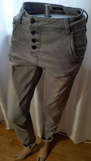 70 % Sale! Opus Jeans Levy Grau 34/32 Boyfriend Knopfleiste Außen