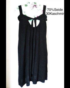 Wollen jurk zwart Zijde