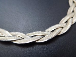 Vintage Silver Chain silver-colored real silver