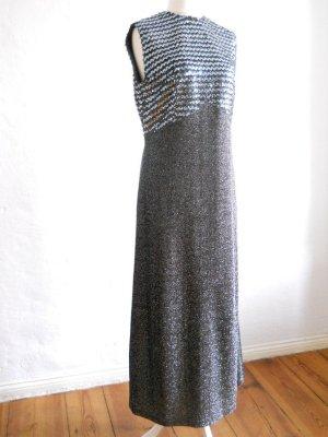 70er Jahre Lurex Abendkleid mit Pailletten Gr. 42-44