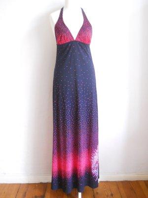 70er Jahre Neckholder Maxi-Kleid Strandkleid Abendkleid