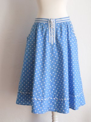 Vintage Circle Skirt light blue-white