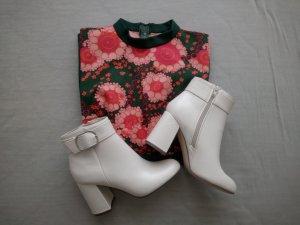 70er jahre stil stifeletten 38 creme weiß *NEU* blogger fashion hippie boho indie