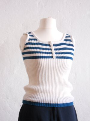 Vintage Knitted Top white synthetic fibre