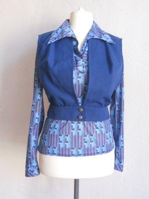 70er Jahre Vintage Kombi Bluse & Weste Gr. 36