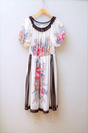 70er Vintage Kleid mit Blumenprint
