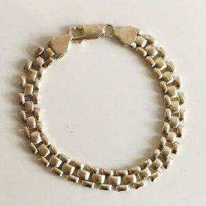 70er Vintage Sterlingsilber Armband 925 Silber Silberarmband 3-reihig Italien