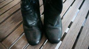 Overknees black leather