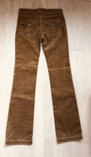Pantalon en velours côtelé chameau