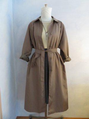 70s Vintage Clean Chic Trenchcoat Parka Long Mantel Karamel Oversize 38 40 42 M L Taillengurt