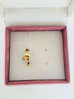 750 Gelbgold Ring mit Diamant