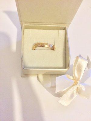 750 Gelbgold Ring mit Diamanten