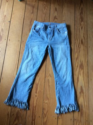 7 For All Mankind 3/4 Length Trousers azure