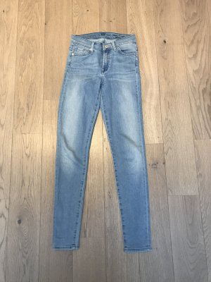 7 For All Mankind Hoge taille jeans azuur
