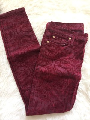 7 For All Mankind Drainpipe Trousers bordeaux