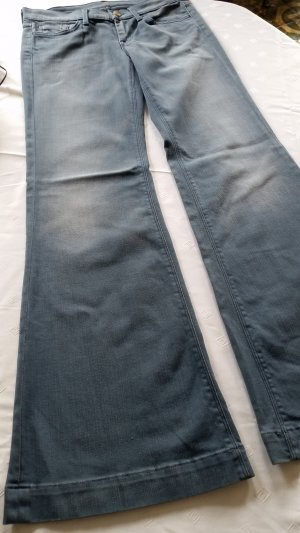 7 For All Mankind Denim Flares slate-gray mixture fibre