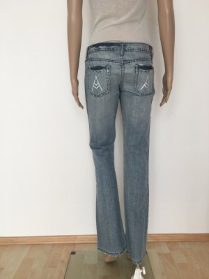 7 For All Mankind Boot Cut spijkerbroek azuur-wit