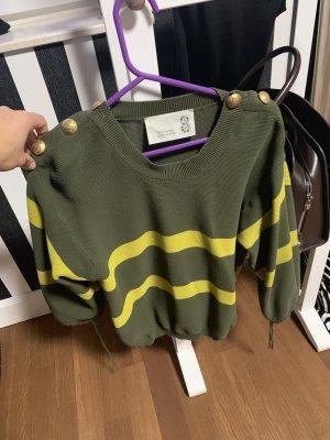 8 Sweater neongeel-olijfgroen