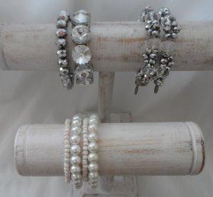 Esprit Armband zilver-wit Glas