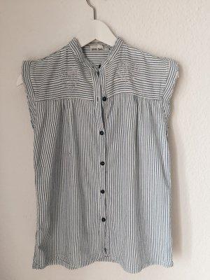 80's Vintage Rüschen Bluse, Gr. XS-M