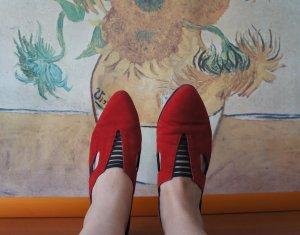 Tamaris Décolleté modello chanel rosso-nero Scamosciato