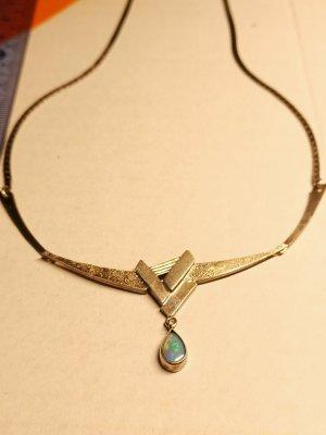 800 Echtsilber Halskette Vintage Opal