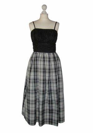 80er 80's Vintage black white schwarz weiß Kleid Abendkleid Ballkleid Gr 36