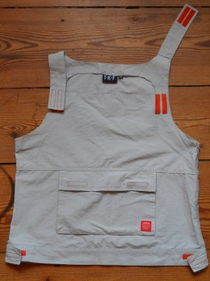 80er Jahre Shirt mit orangenen Klettverschlüssen Gr. 34/36