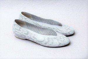 80er Vintage Ballerinas - Snakeprint