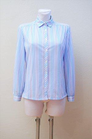 80er Vintage Bluse in Pastellfarben