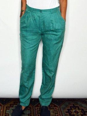 Vintage Pantalon taille haute vert