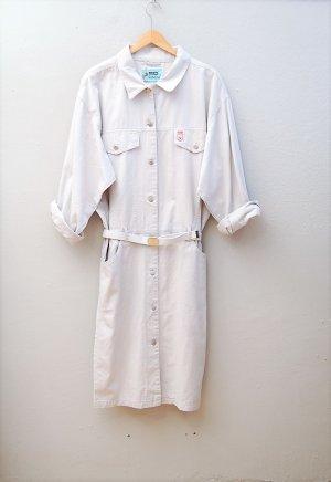 80er Vintage Jeanskleid in Hellgrau