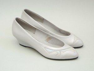80er Vintage Keil Ballerinas - BLEIL