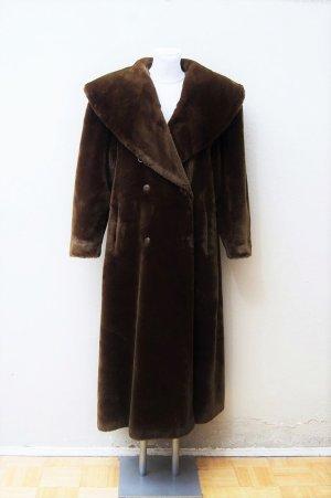 80er Vintage Kunstfellmantel / Teddymantel