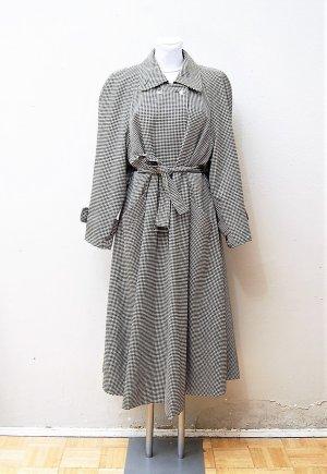 80er Vintage Pepita Trenchcoat aus Wolle