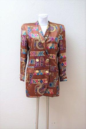 80er Vintage Seiden Blazer-Kleid