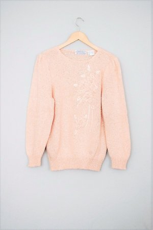 Vintage Knitted Sweater nude-apricot